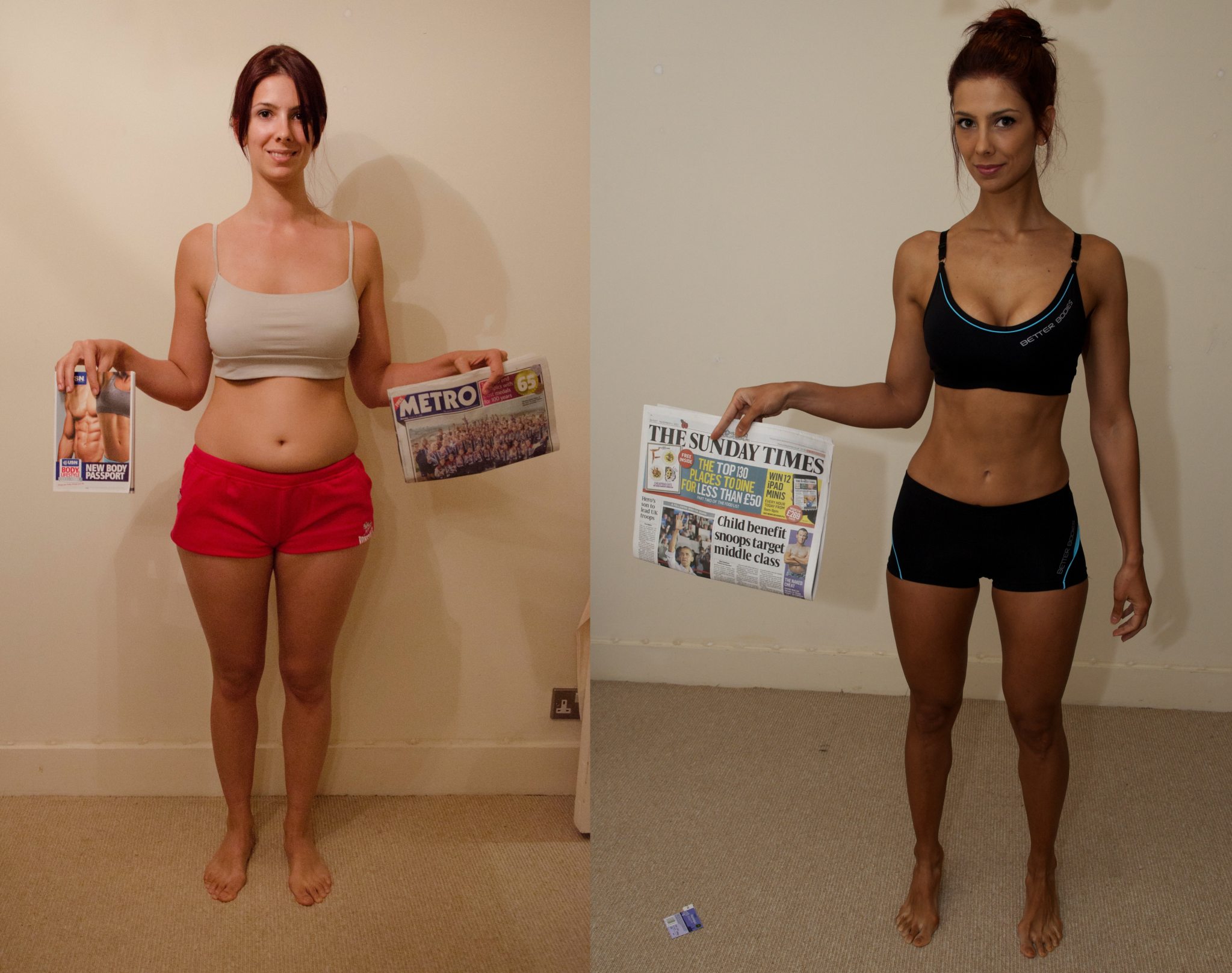 Accountant, Juliana, felt depressed about her weight. Now she is a professional WBFF athlete and competing in bikini competitions.