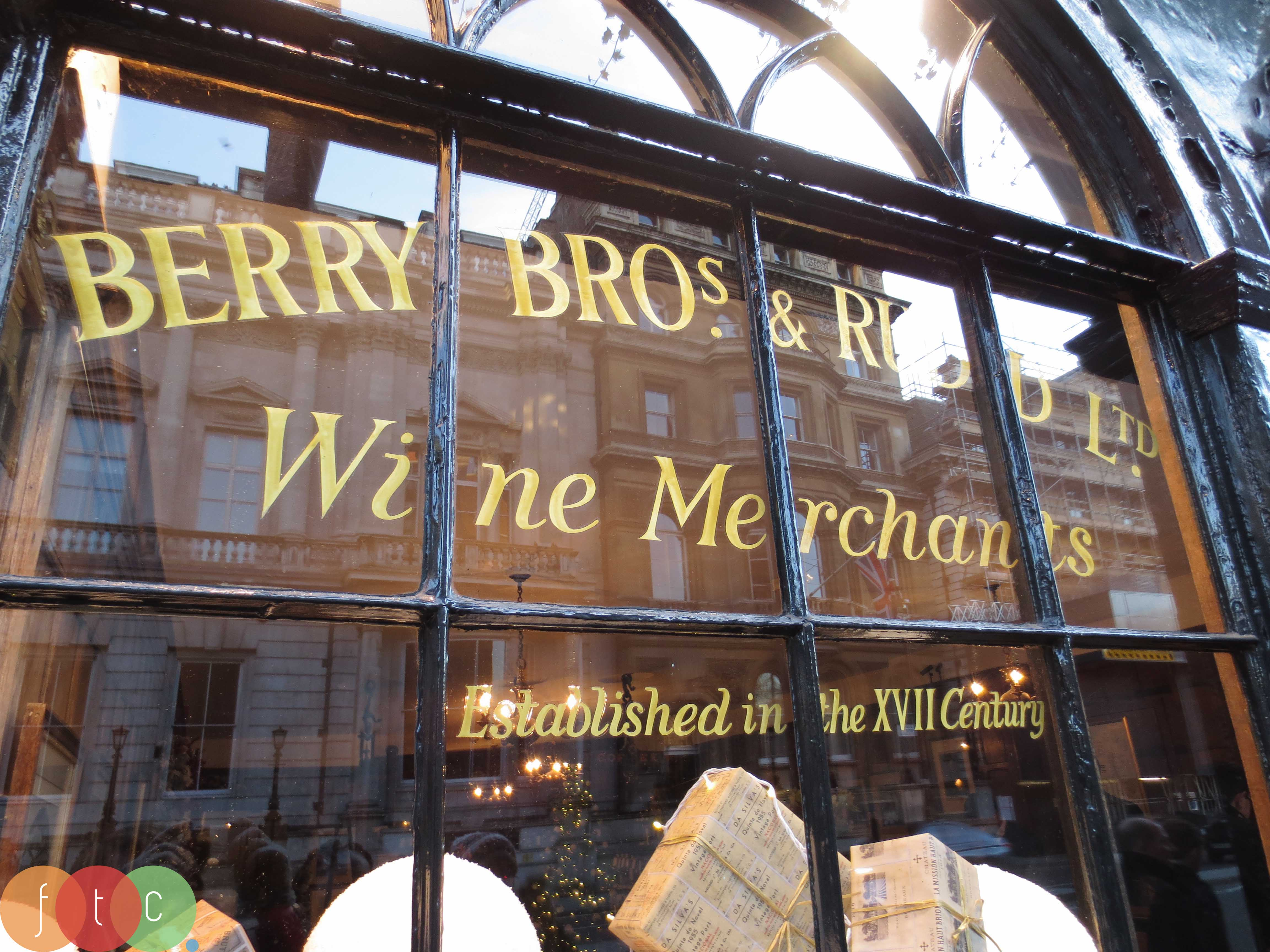 Berry Brothers wine and liquor shop