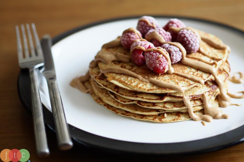 Oat Flour Protein Pancakes