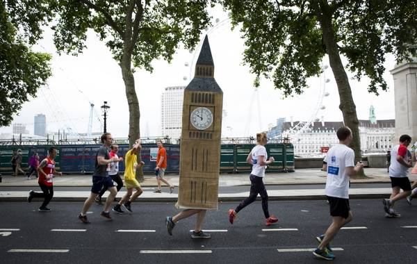 Big Ben running the British 10k London