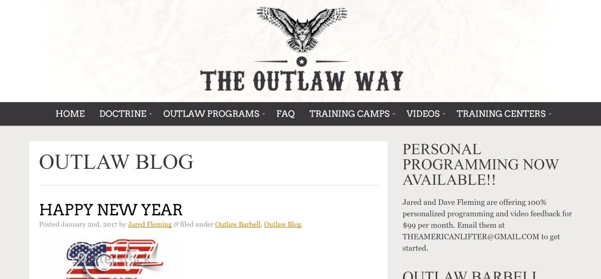 The Outlaw Way Barbell Programming