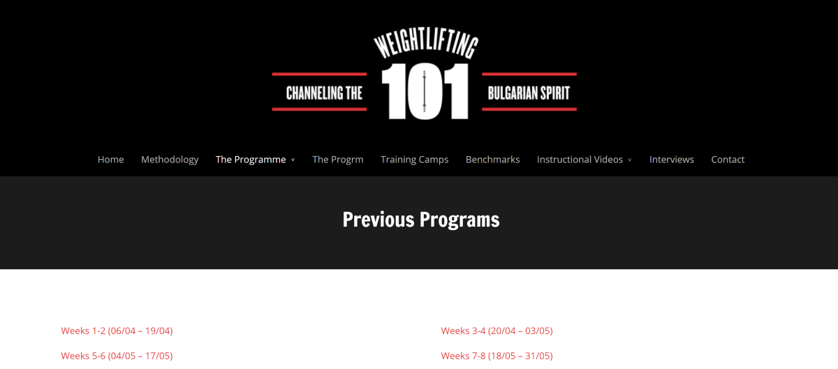 Weightlifting 101 CrossFit Programming